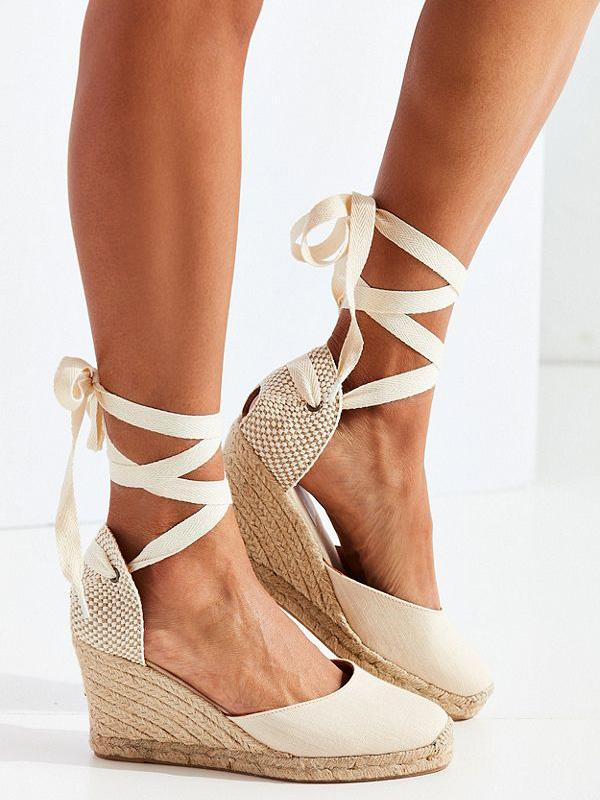 Bandage Wedge Heels Shoes - Zebrant