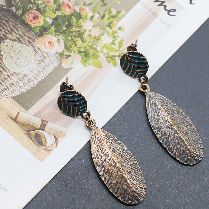 alloy fashion trend retro earrings - Zebrant