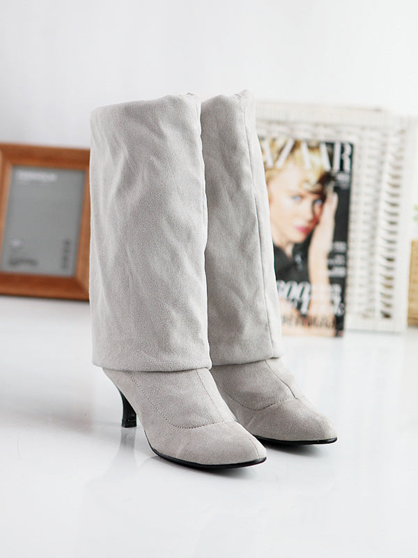 Suede pure high boots - Zebrant