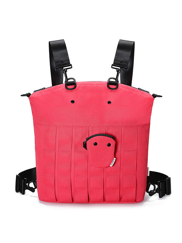 Cute Pig Pattern Backpack Crossbody Bag with Detachable Coin Purse - Zebrant