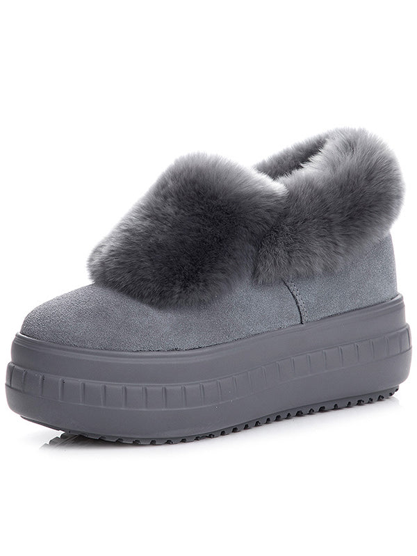Fur One Thick Snow Boots Uggs - Zebrant