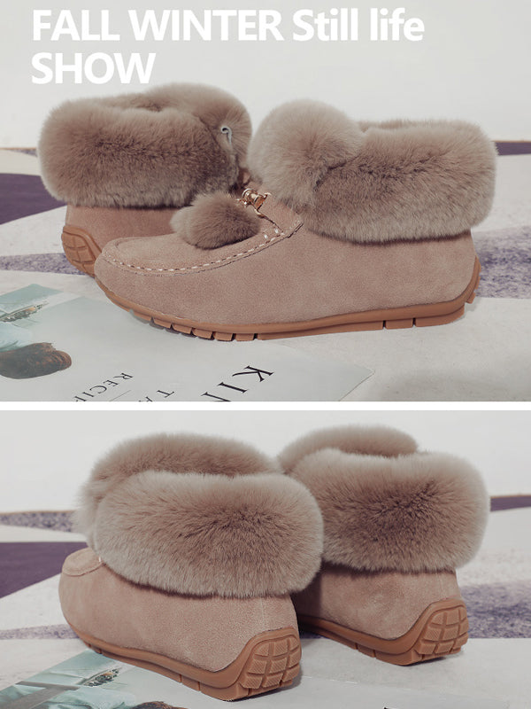 New Korean Artificial Fur Flip Cotton Shoes