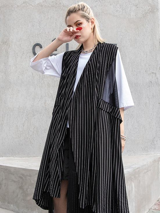 Casual Striped Cotton Waistcoat - Zebrant