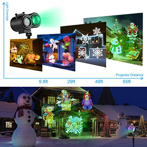 Sefinn Four 16 Slides Holiday Christmas Dual Heads LED Light Projector - Zebrant
