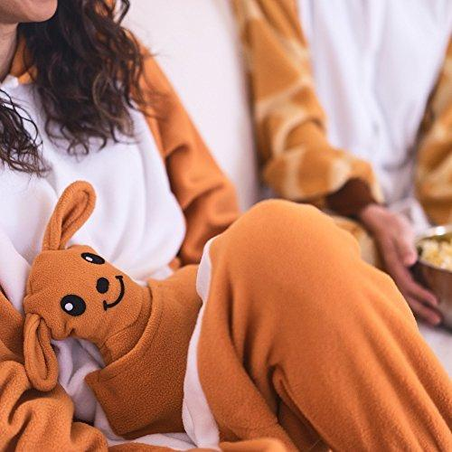 Adults' Kigurumi Pajamas Kangaroo Onesie Pajamas Polar Fleece Synthetic Fiber Orange Cosplay