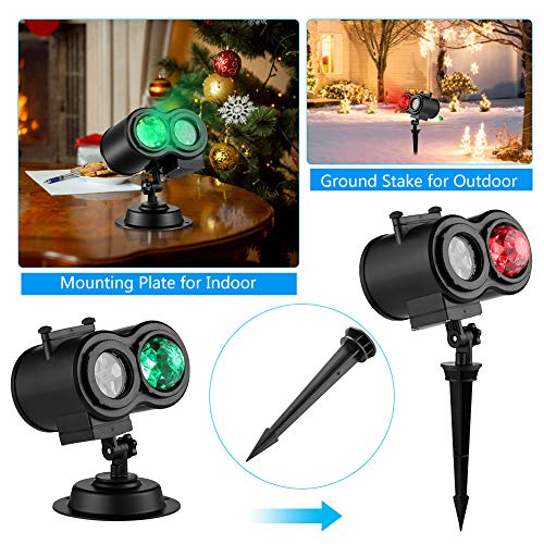 Sefinn Four 16 Slides Holiday Christmas Dual Heads LED Light Projector
