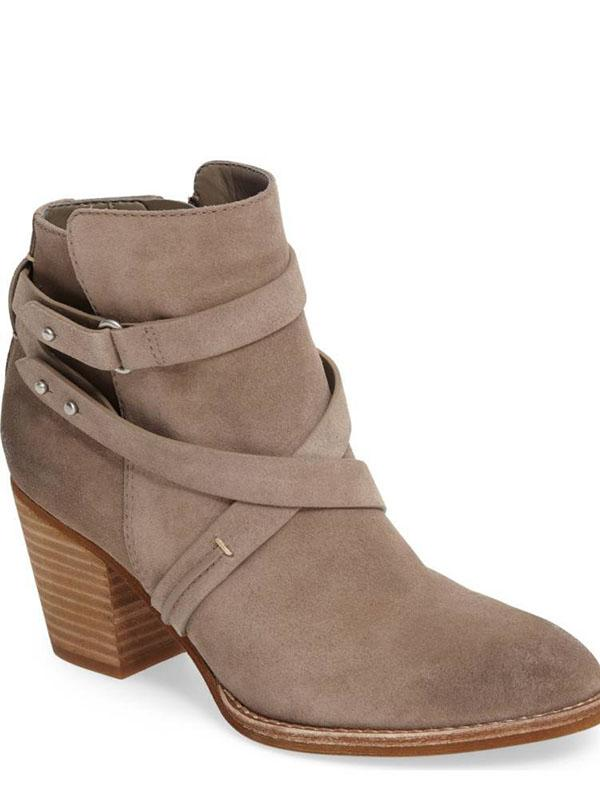 Fashion Bandage Buckle Ankle Boots Shoes - Zebrant
