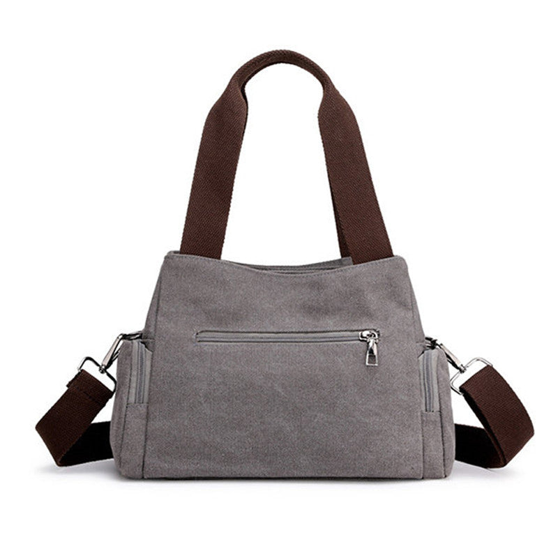 Canvas Multi-function Large Capacity Shoulder Casual Handbag Messenger Bag - Zebrant