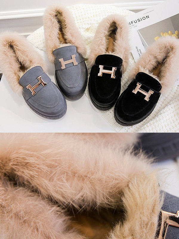 Trendy Fashion Fluffy High Women Shoes - Zebrant
