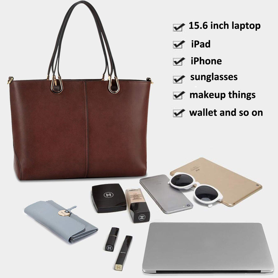 Laptop Bag,15.6 Inch Business Work Laptop Tote Bag,Casual Laptop Bag for Women - Zebrant