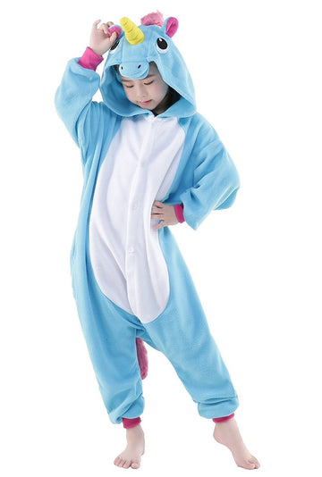 Kid's Kigurumi Pajamas Unicorn Flying Horse Onesie Pajamas - Zebrant