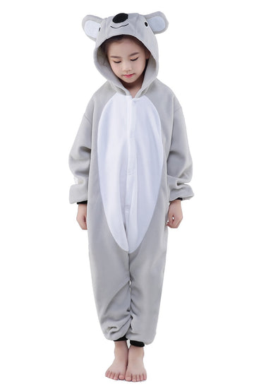 Kid's Kigurumi Pajamas Koala Onesie Pajamas Polar Fleece Gray Cosplay