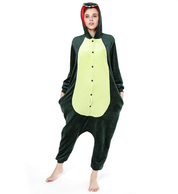 Kigurumi Pajamas Dinosaur Adults' Onesie Pajamas Polar Fleece Dark Green Cosplay