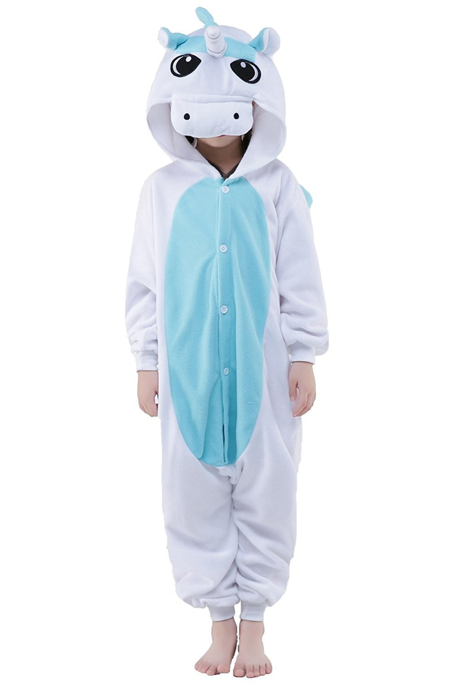 Kid's Kigurumi Pajamas Unicorn Flying Horse Onesie Pajamas