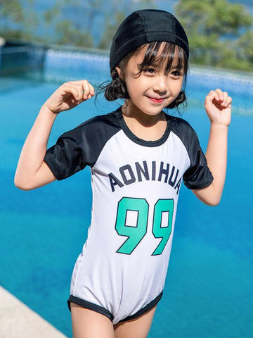 AONIHUA Sweet Girl One Piece Swimwear - Zebrant