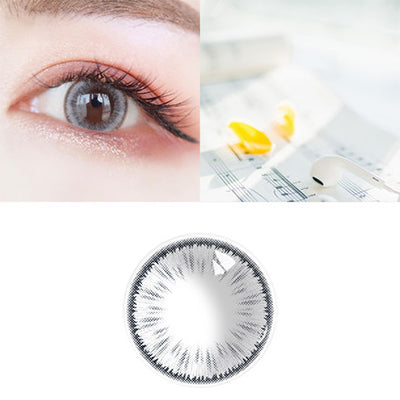Summer Fluorescence Gray Contact Lenses - Zebrant
