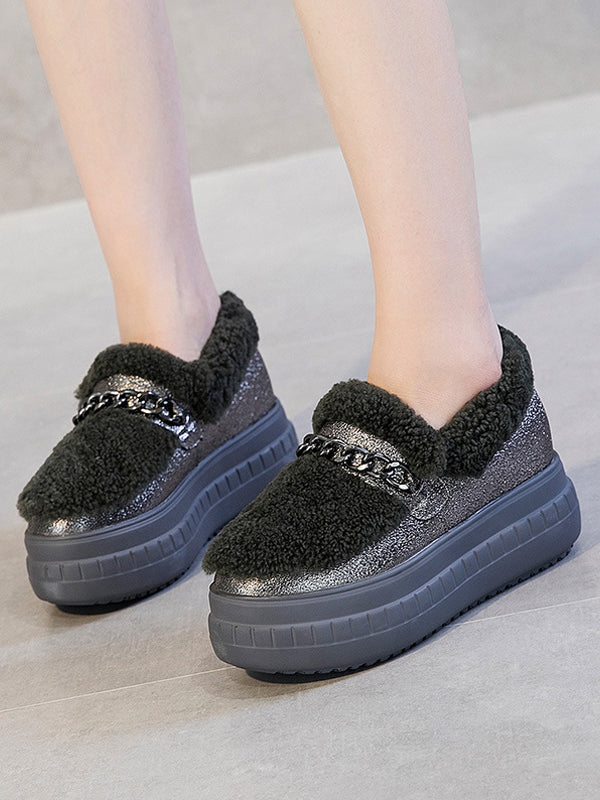 High Leather Warm Shoes  Sport Style