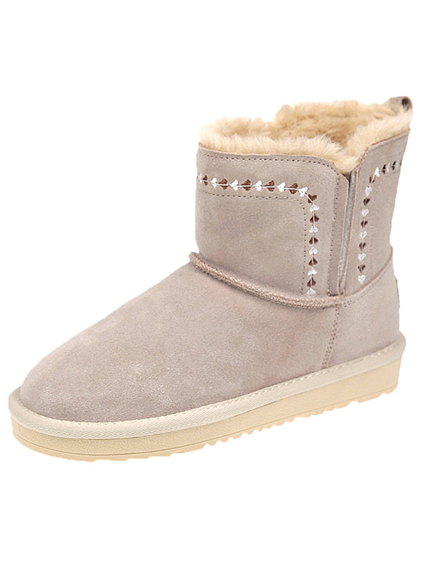 Lady Scrub Embroidered Snow Boots Uggs - Zebrant