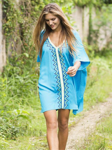 V-neck Plus Size Cover-up - Zebrant
