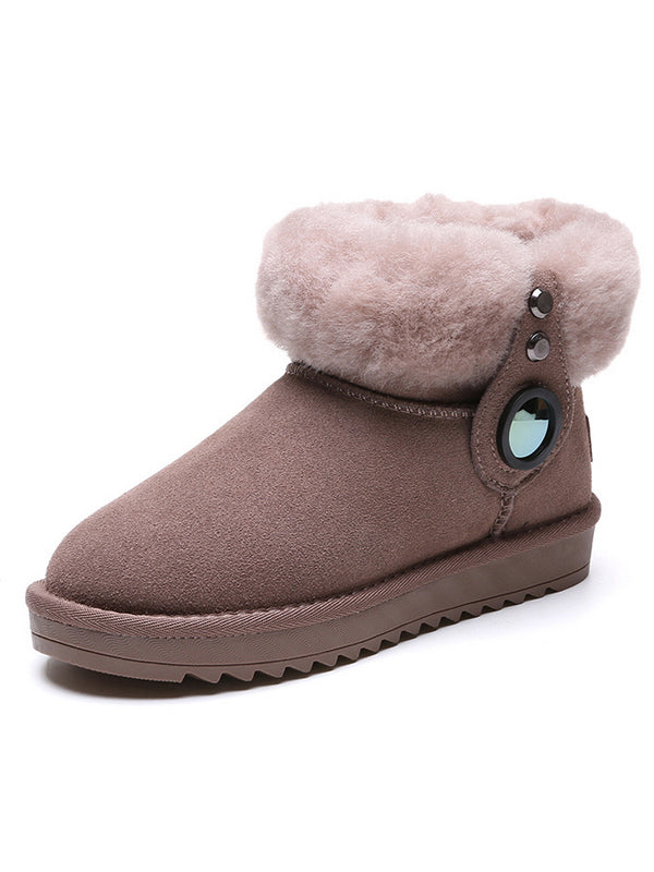 Wool Casual Outdoor Snow Boots Uggs - Zebrant