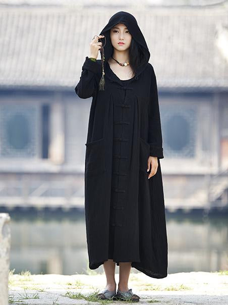 Chinese Style Casual Coat with Cape, Five Colors - Zebrant