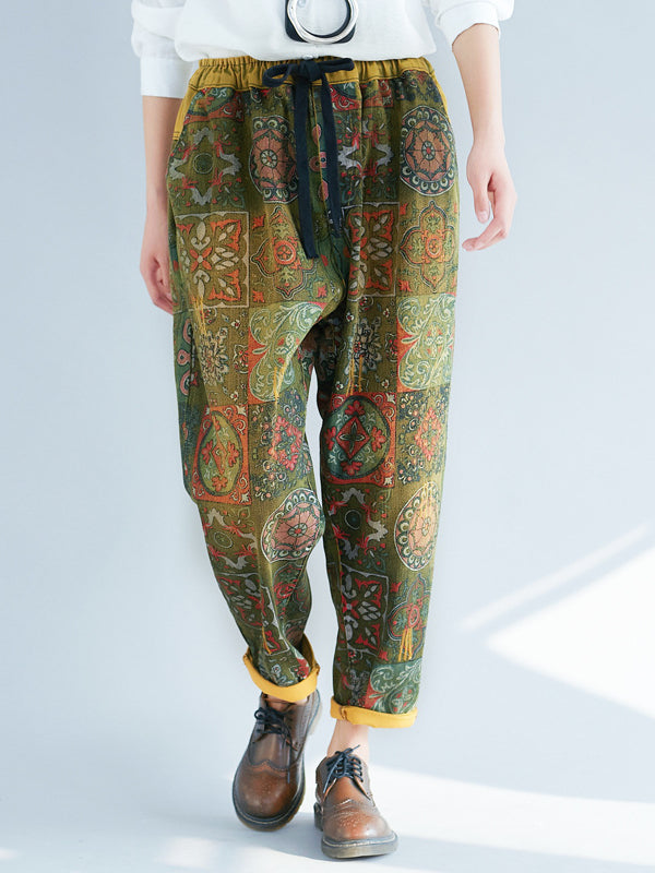 Casual Printed Straight Leg Pants - Zebrant