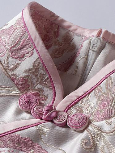 Casual Traditional Chinese Dress in Pink Color