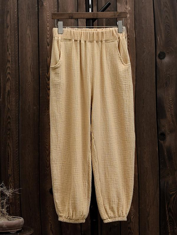 Pure Color Comfortable Bloomer Pants - Zebrant