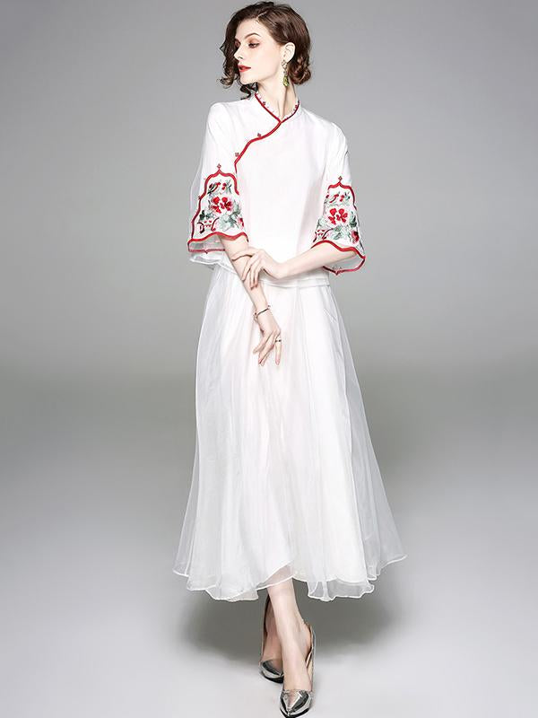 Traditional Chinese Top from Organza, Two Colors