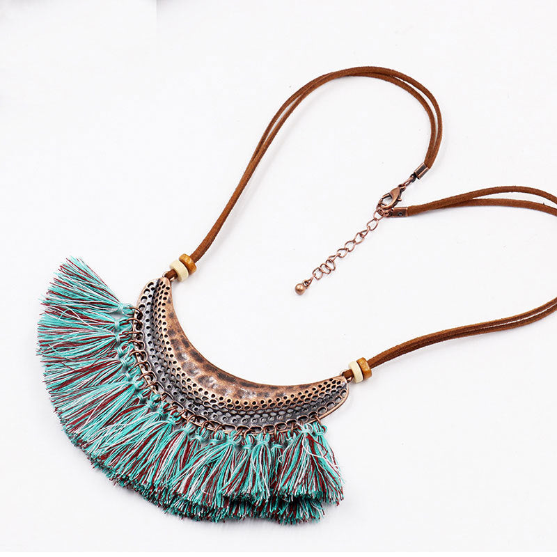 Fashion tassel Retro necklace - Zebrant