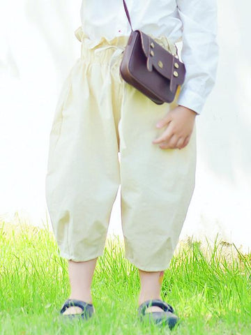 Green&Beige Cotton Kids Harem Pants - Zebrant