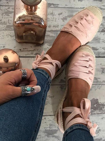 Pretty Bandage Open Toe Casual Shoes - Zebrant
