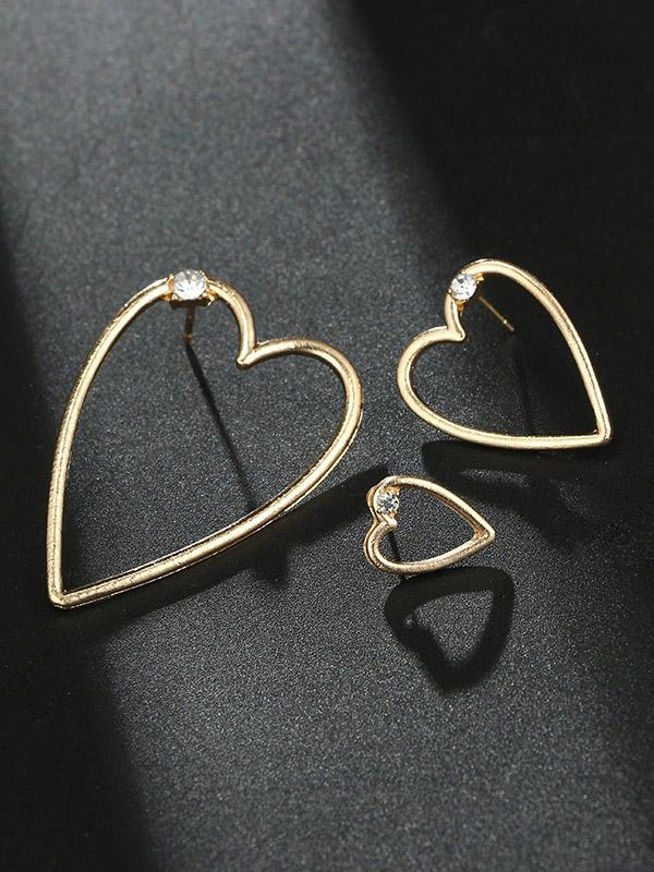 3PCS Alloy Earring Accessories - Zebrant