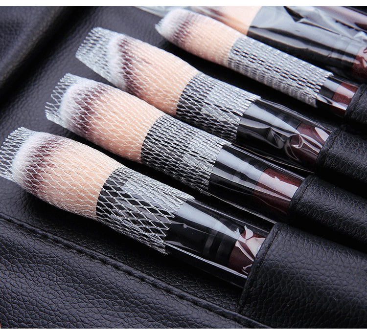 26pcs Professional Soft Cosmetic Eyebrow Shadow Makeup Brush Set with Bag - Zebrant