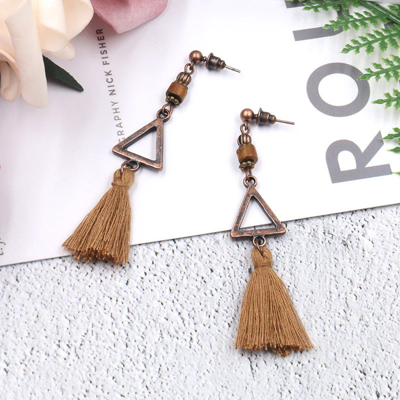 5 COLOR New fashion bohemian earrings tassel ladies personalized jewelry earrings - Zebrant
