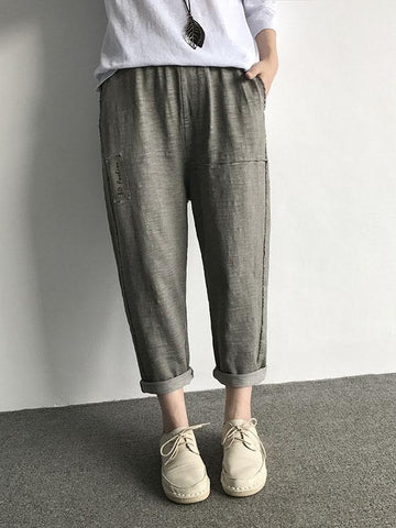 Casual Comfortable Cotton Pants - Zebrant