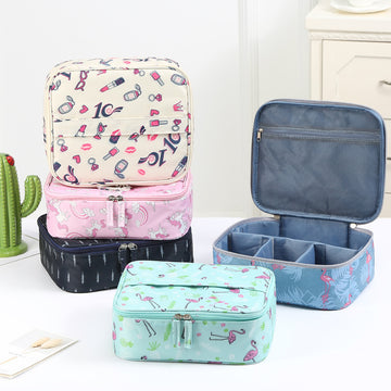 Portable Travel Makeup Cosmetic Bags Organizer Multifunction Toiletry Bags for Women - Zebrant
