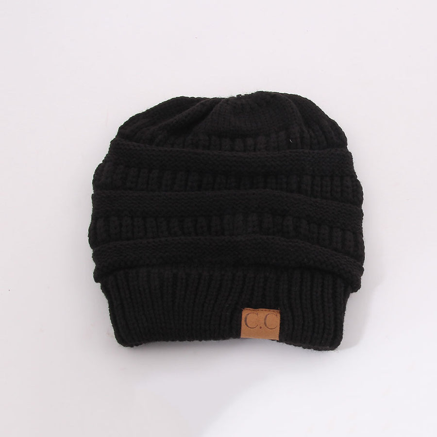 Soft Knit Ponytail Hat - Zebrant