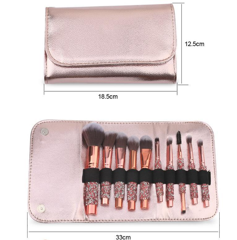 Makeup Brushes 10-Piece Makeup Brush Set Foundation Brush with Travel Makeup Bag - Zebrant