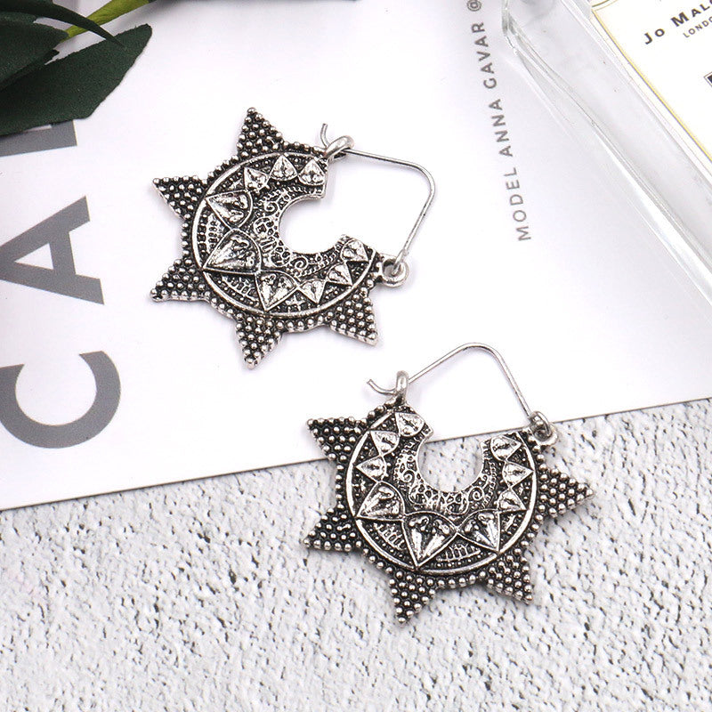 Delicate earrings creative retro geometric earrings - Zebrant