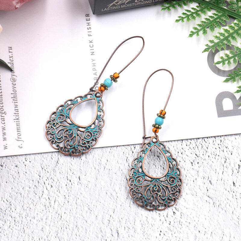 Bohemian ethnic style long wild drop Earrings Wholesale - Zebrant
