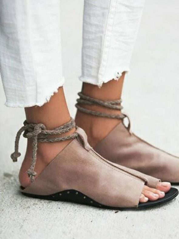 Fashion Bandage Open Toe Sandals Shoes - Zebrant