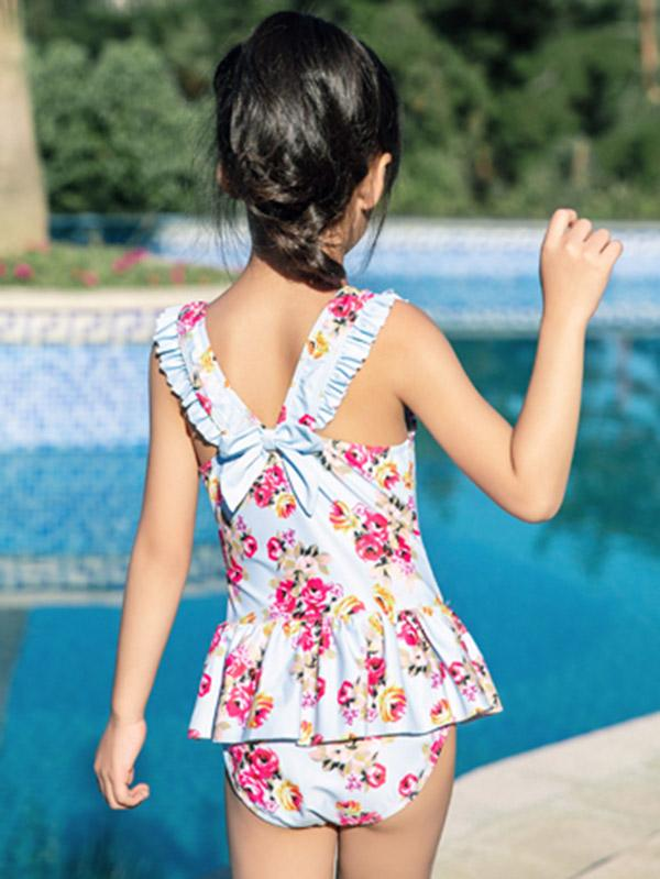AONIHUA Lovely Bowknot Princess Swimwear - Zebrant