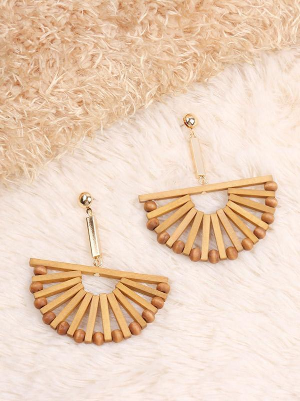 Vintage Wooden Earrings Accessories - Zebrant
