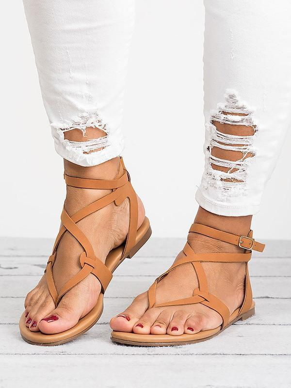 Casual Summer Stylish Flat Sandals, Five Colors - Zebrant