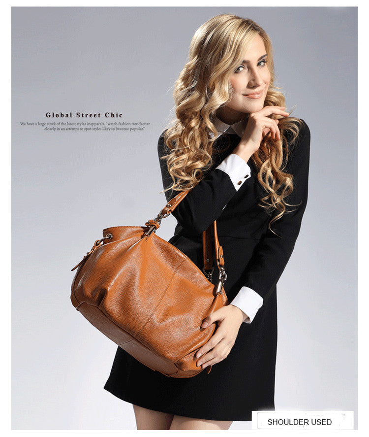 Office Ladies Hand Bags Real Leather Shoulder Bag - Zebrant