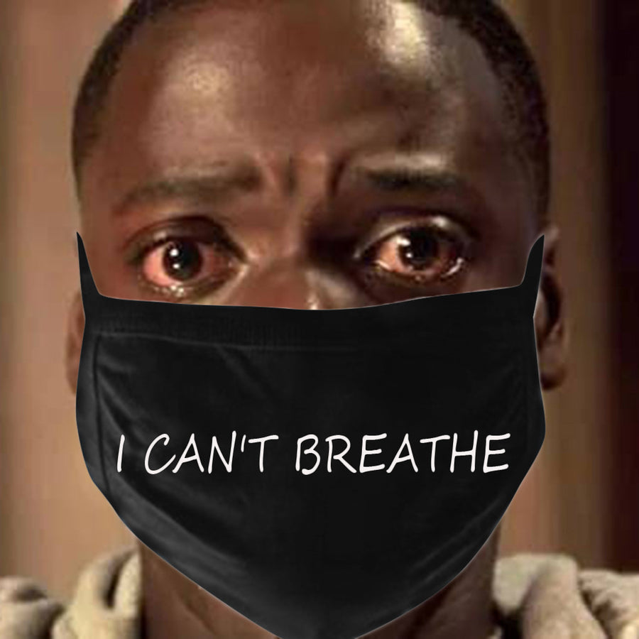 I Can't Breathe Letter Print Mask - Zebrant