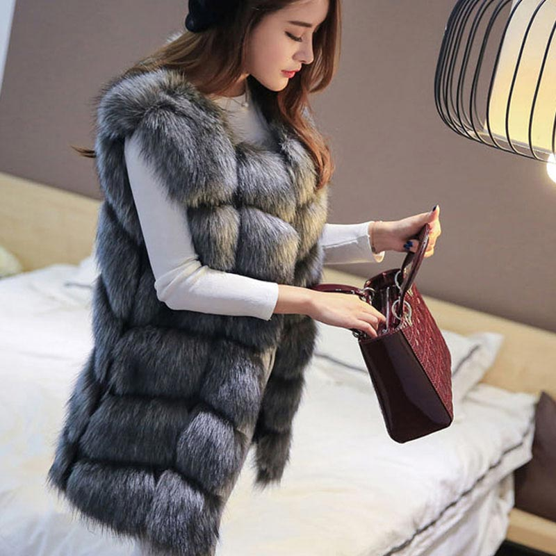 High quality Luxury Artificial Fur Warm Women Coat - Zebrant