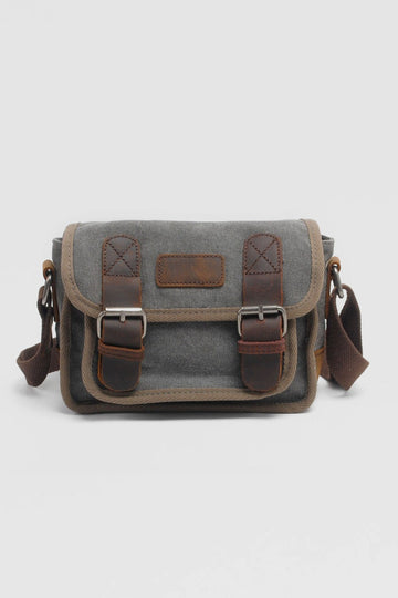Vintage Leather Canvas Bag