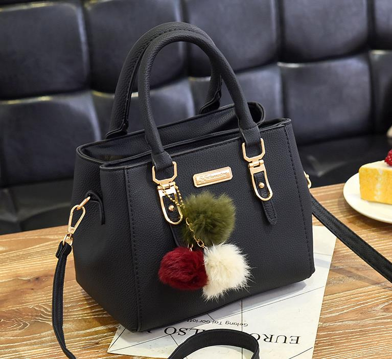 Luxury Handbag Women Bags Women Hairball Shoulder Bag - Zebrant